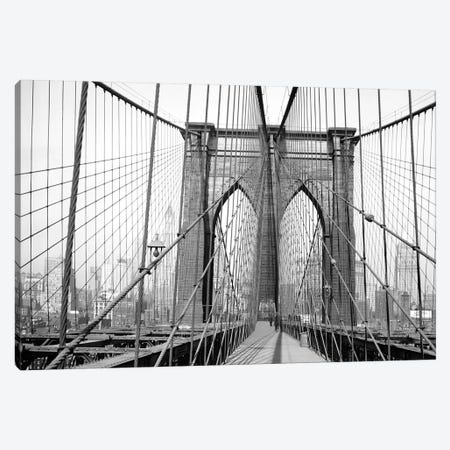1948 View, Brooklyn Bridge, New York City, New York, USA Canvas Print #PBE13} by Peter Bennett Canvas Art