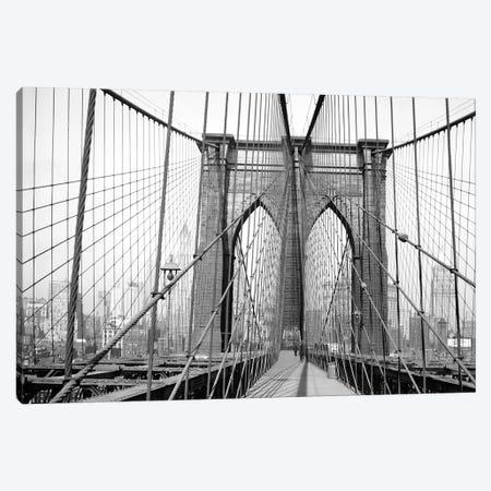 1948 View, Brooklyn Bridge, New York City, New York, USA Canvas Print #PBE13} by Peter Bennett Canvas Art