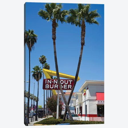 In-N-Out Burger Sign, Sunset Boulevard, Los Angeles County, California, USA Canvas Print #PBE1} by Peter Bennett Canvas Print