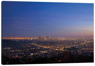 Illuminated Cityscape, Los Angeles County, California, USA Canvas Art Print