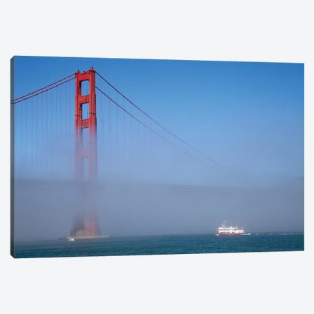 Foggy Afternoon I, Golden Gate Bridge, California, USA  Canvas Print #PBE3} by Peter Bennett Canvas Art Print