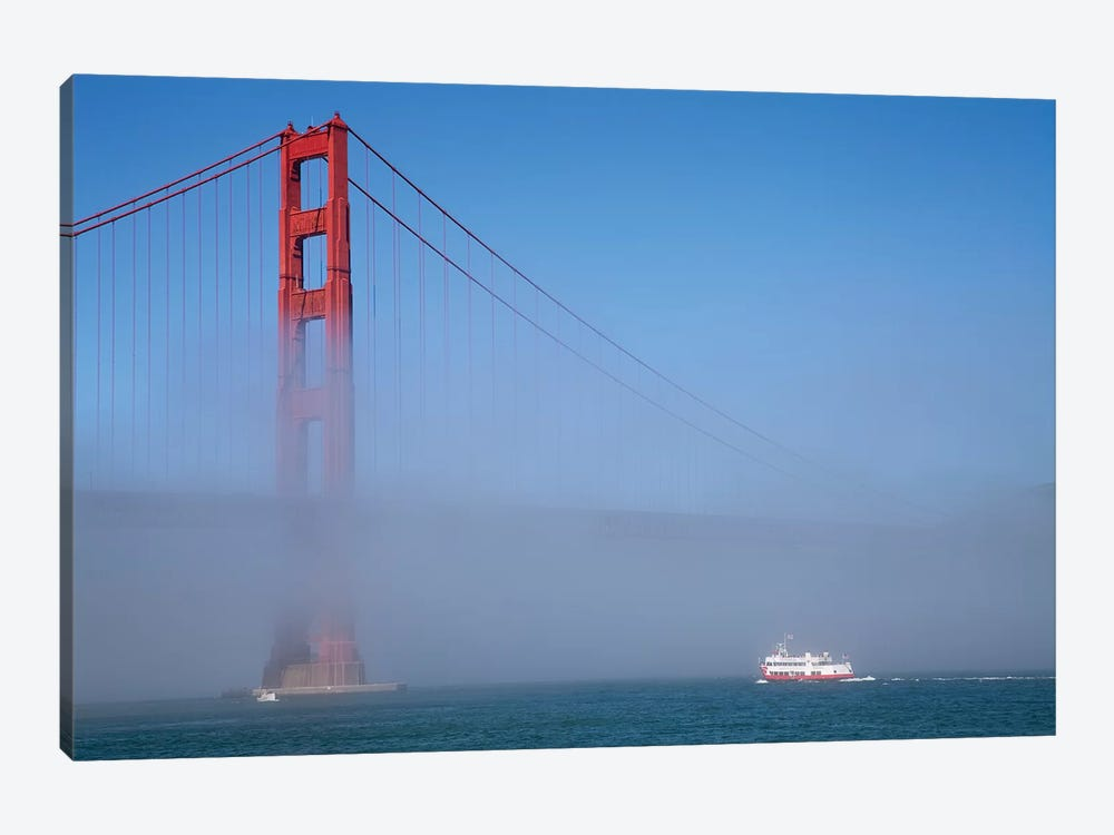 Foggy Afternoon I, Golden Gate Bridge, California, USA  by Peter Bennett 1-piece Canvas Wall Art