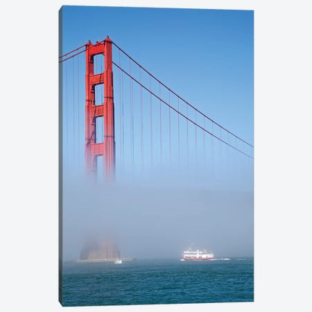 Foggy Afternoon II, Golden Gate Bridge, California, USA  Canvas Print #PBE4} by Peter Bennett Canvas Wall Art