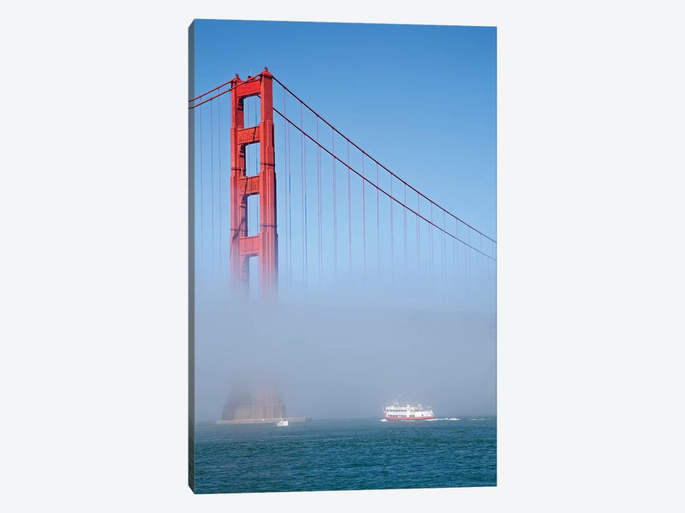 Foggy Afternoon II, Golden Gate Bridge, California, USA by Peter Bennett 1-piece Canvas Art Print