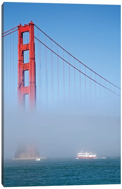 Foggy Afternoon II, Golden Gate Bridge, California, USA  Canvas Art Print