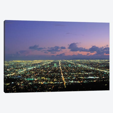 Nighttime View From Griffith Park, Los Angeles, California, USA Canvas Print #PBE5} by Peter Bennett Canvas Artwork
