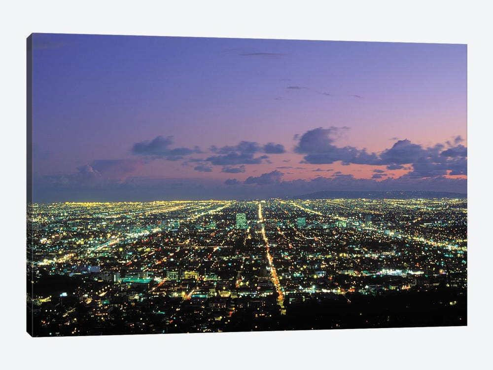 Nighttime View From Griffith Park, Los Angeles, California, USA by Peter Bennett 1-piece Canvas Wall Art