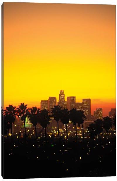 Downtown Skyline At Sunset I, Los Angeles, California, USA Canvas Art Print