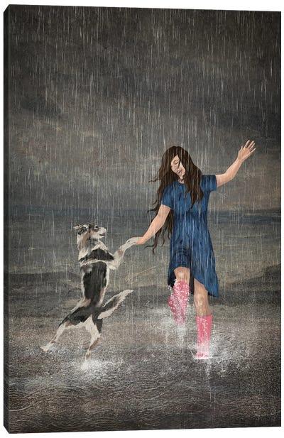 Amor Fati Or Dancing In The Rain Canvas Art Print