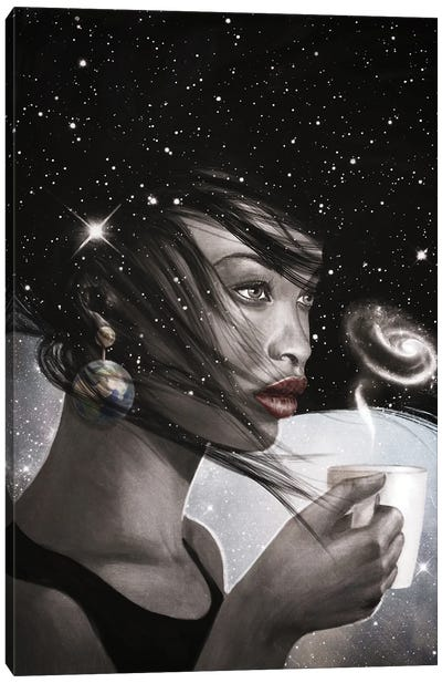 Cosmic Coffee Break Canvas Art Print