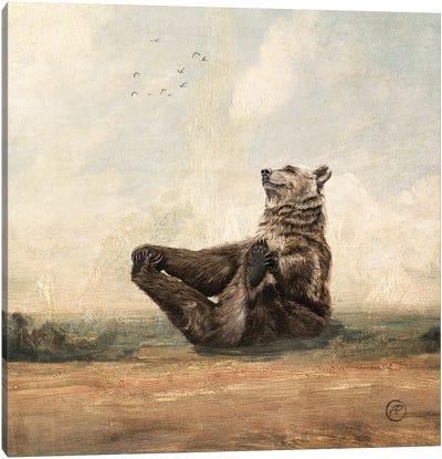 The Yoga Bear Canvas Art Print