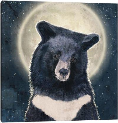 Moon Bear Portrait Canvas Art Print