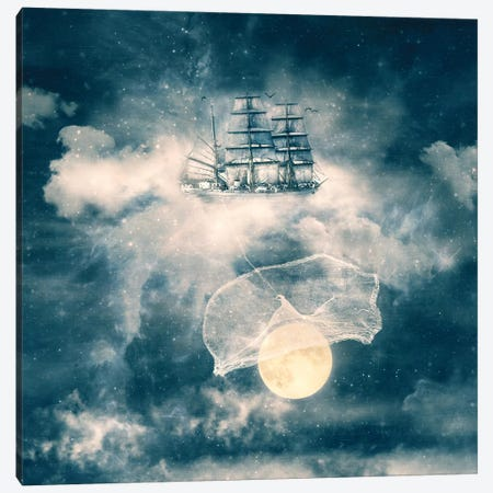I Am Gonna Bring You The Moon Canvas Print #PBF12} by Paula Belle Flores Canvas Print
