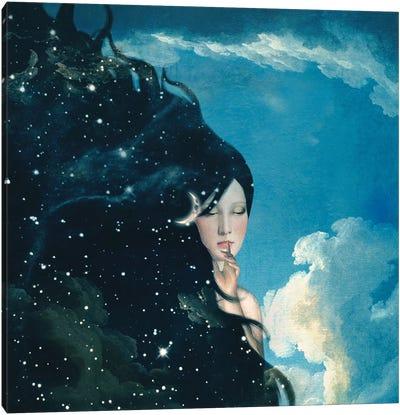 Lady Night Canvas Art Print