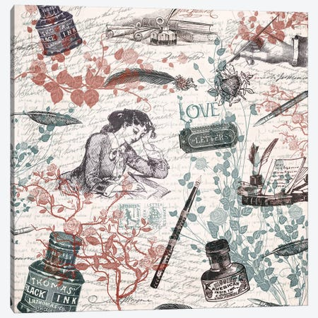 Love Letters Canvas Print #PBF23} by Paula Belle Flores Canvas Artwork