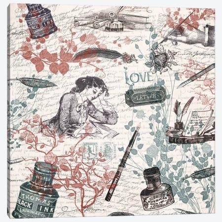 Love Letters Canvas Print #PBF23} by Paula Belle Flores Canvas Artwork