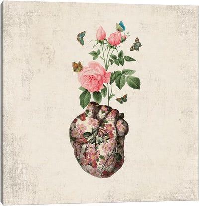 Love Makes My Heart Bloom Canvas Art Print