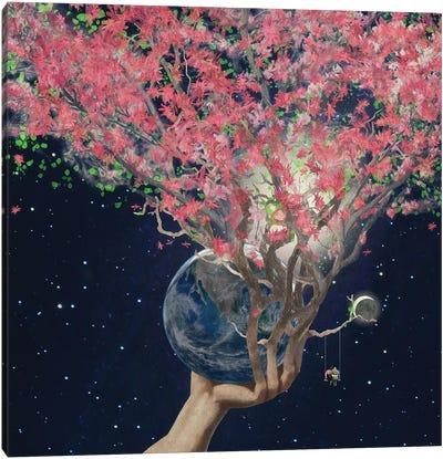 Love Makes The Earth Bloom Canvas Art Print