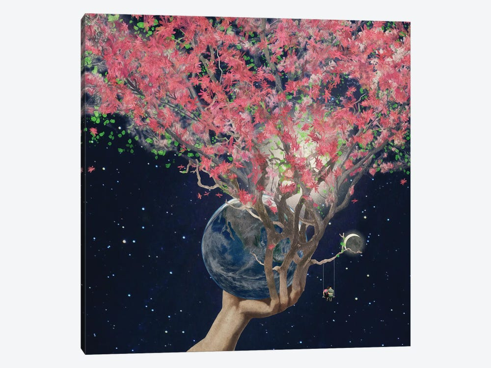 Love Makes The Earth Bloom by Paula Belle Flores 1-piece Canvas Art Print