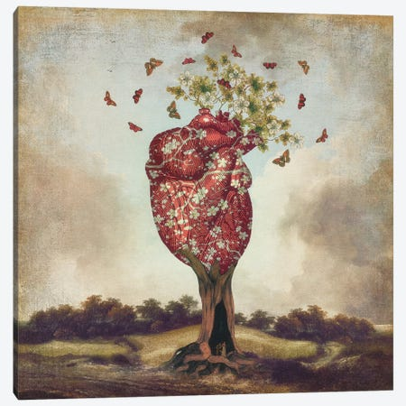Love Tree Canvas Print #PBF26} by Paula Belle Flores Art Print