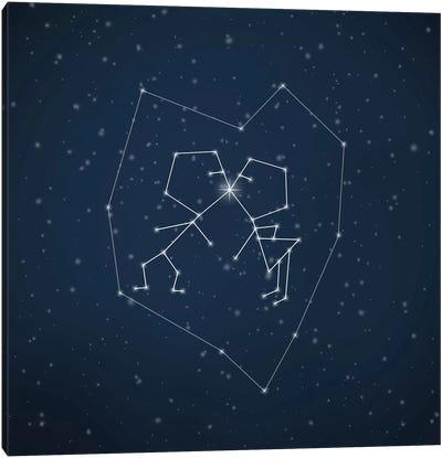 Love Written In The Stars Canvas Art Print