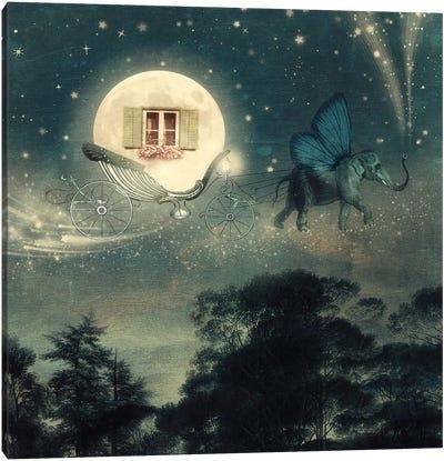 Moon Carriage Canvas Art Print
