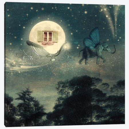 Moon Carriage Canvas Print #PBF30} by Paula Belle Flores Canvas Print