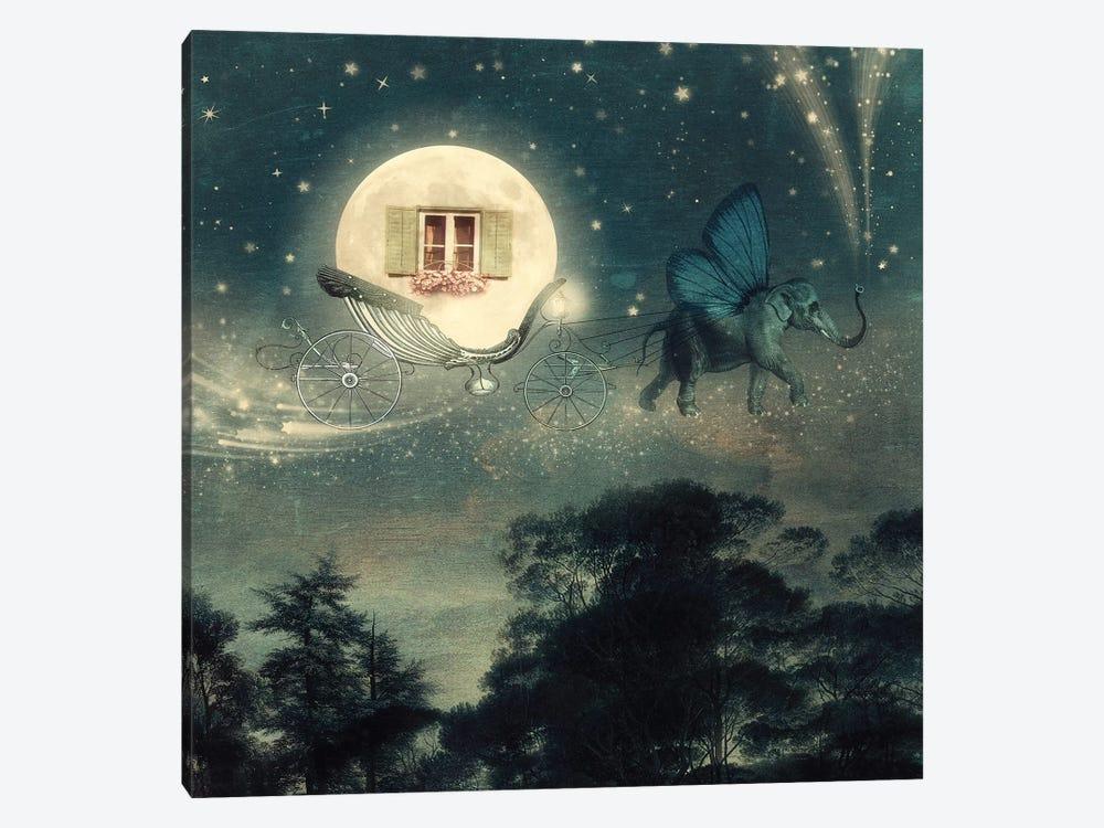 Moon Carriage by Paula Belle Flores 1-piece Canvas Art Print