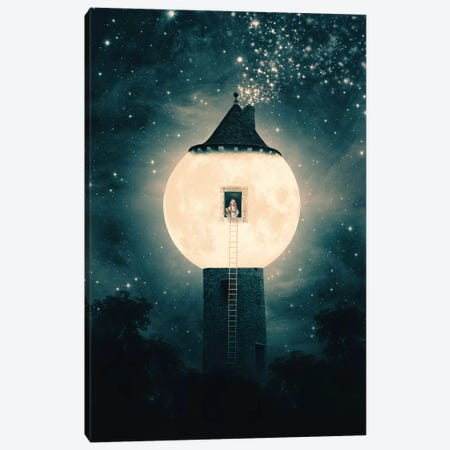 Moon Tower Canvas Print #PBF32} by Paula Belle Flores Art Print