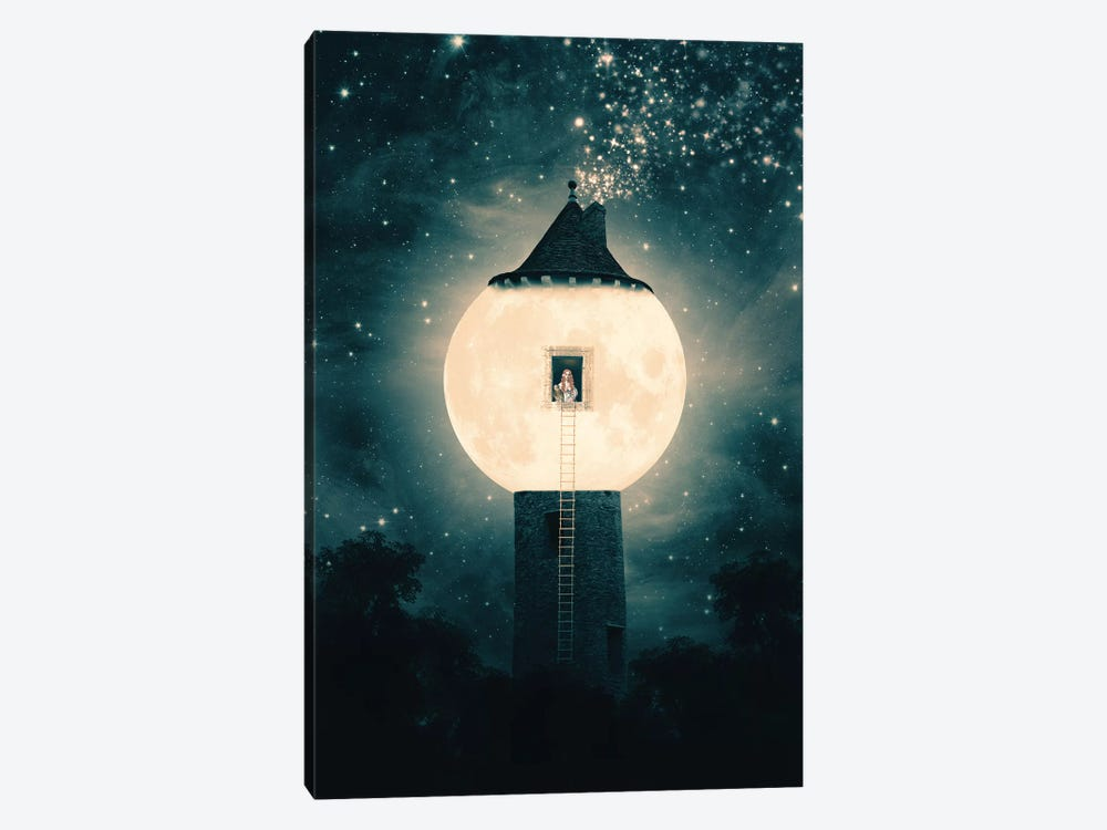 Moon Tower by Paula Belle Flores 1-piece Canvas Art Print