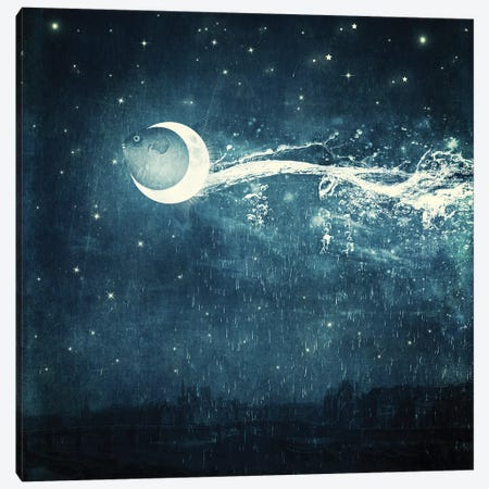 Moonriver Canvas Print #PBF33} by Paula Belle Flores Canvas Print