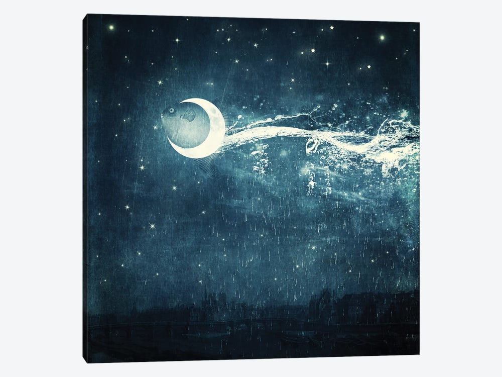 Moonriver by Paula Belle Flores 1-piece Canvas Wall Art