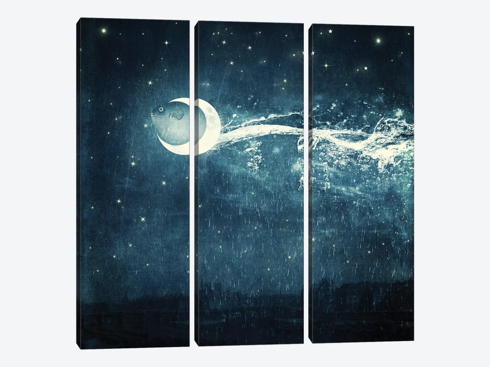 Moonriver by Paula Belle Flores 3-piece Canvas Wall Art