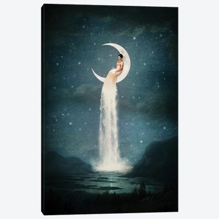 Moonriver Lady Canvas Print #PBF34} by Paula Belle Flores Canvas Art