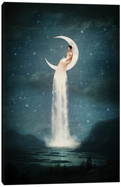 Moonriver Lady Canvas Art Print