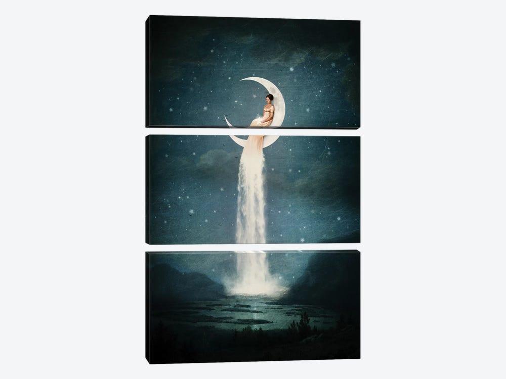 Moonriver Lady by Paula Belle Flores 3-piece Canvas Art Print
