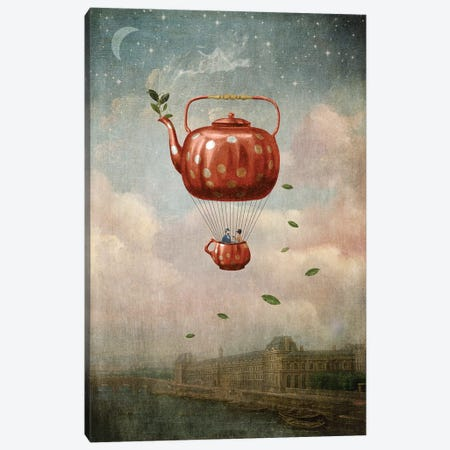 Morning Tea For Two Canvas Print #PBF35} by Paula Belle Flores Canvas Wall Art