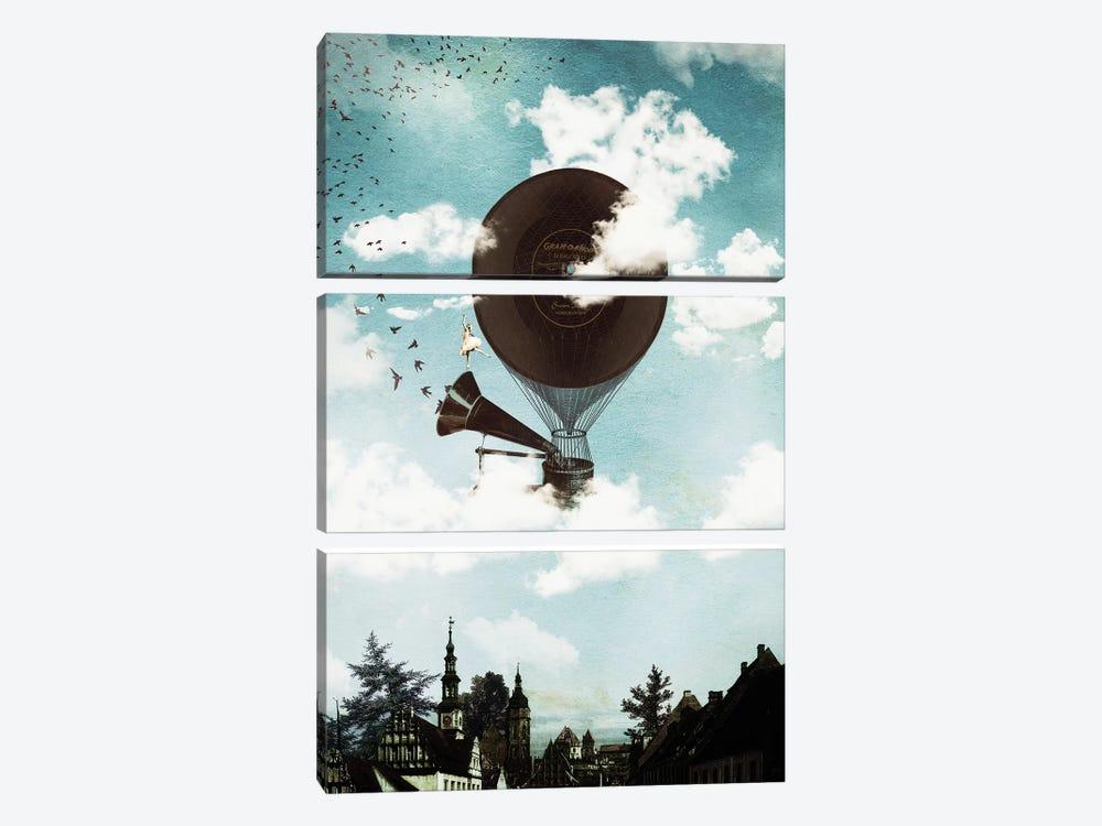 Music Flight by Paula Belle Flores 3-piece Canvas Print