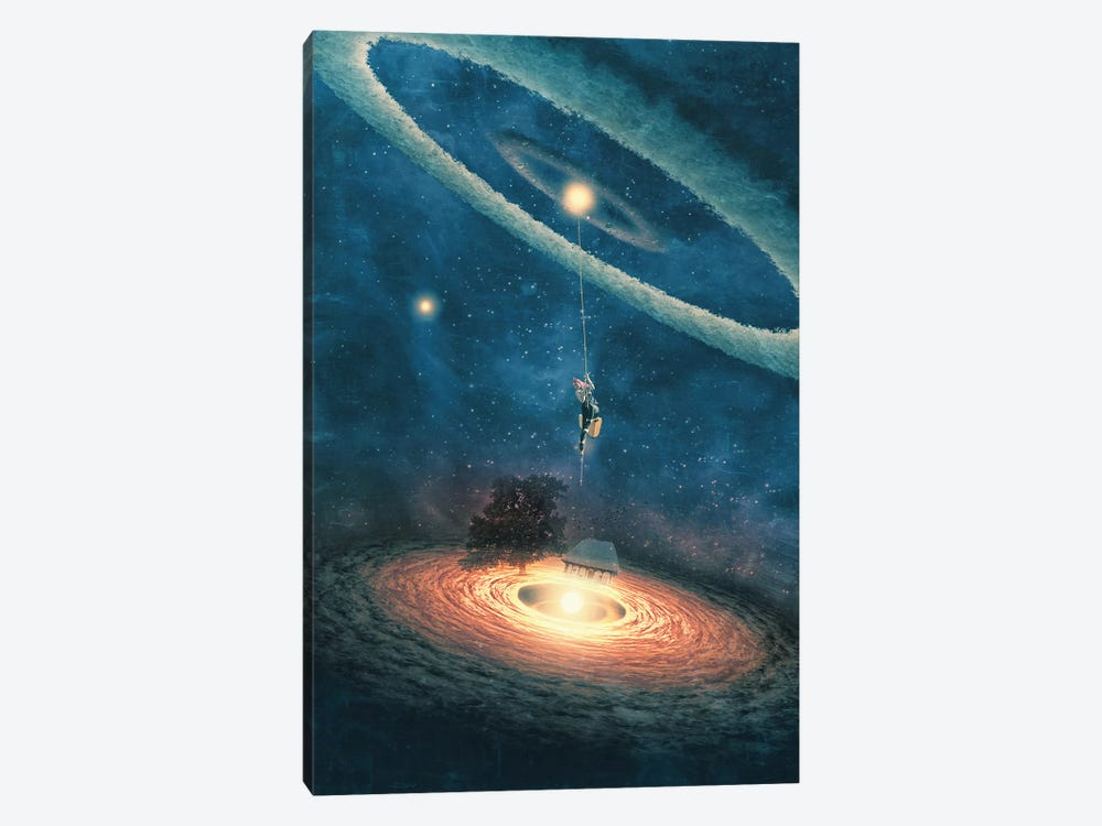 My Dream House Is In Another Galaxy by Paula Belle Flores 1-piece Canvas Wall Art