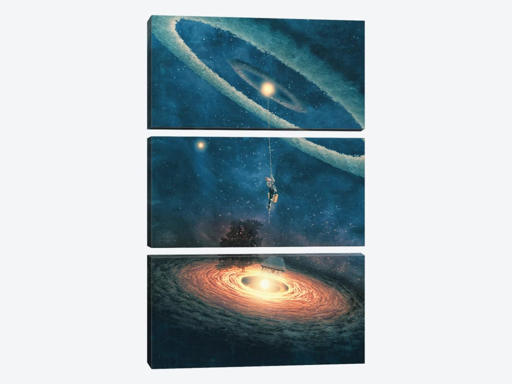 My Dream House Is In Another Galaxy by Paula Belle Flores 3-piece Canvas Artwork