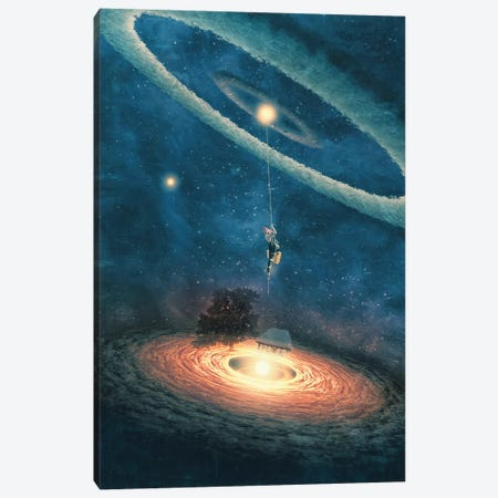 My Dream House Is In Another Galaxy Canvas Print #PBF37} by Paula Belle Flores Canvas Artwork
