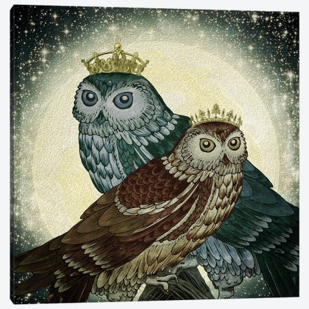 Owls Canvas Print #PBF39} by Paula Belle Flores Canvas Art Print