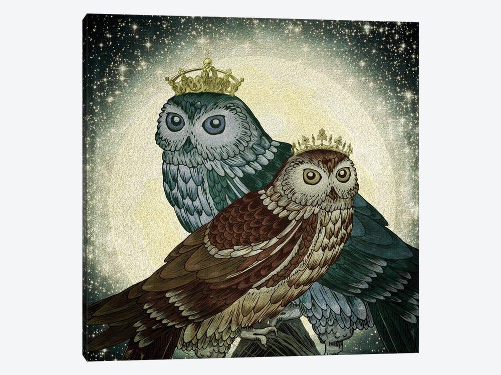 Owls by Paula Belle Flores 1-piece Canvas Artwork