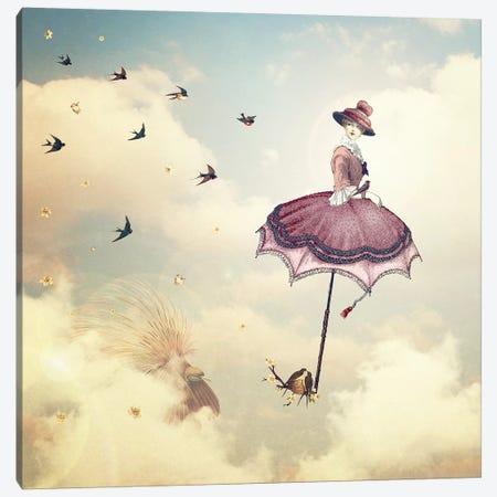 Rain Lady Canvas Print #PBF43} by Paula Belle Flores Canvas Art