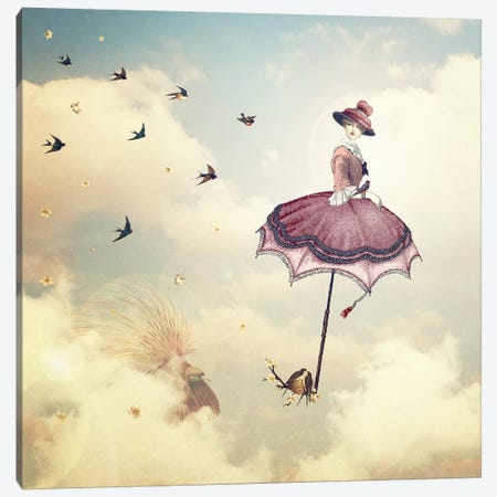 Rain Lady Canvas Print #PBF43} by Paula Belle Flores Canvas Art