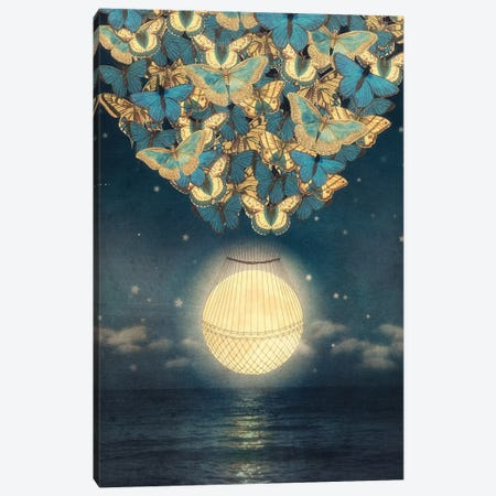 Rising Moon Canvas Print #PBF45} by Paula Belle Flores Art Print