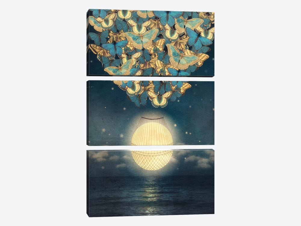 Rising Moon by Paula Belle Flores 3-piece Art Print
