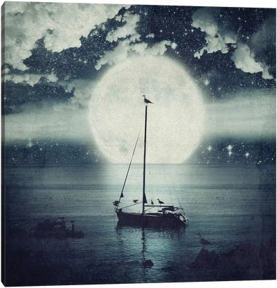 Starry Night Seascape Canvas Art Print