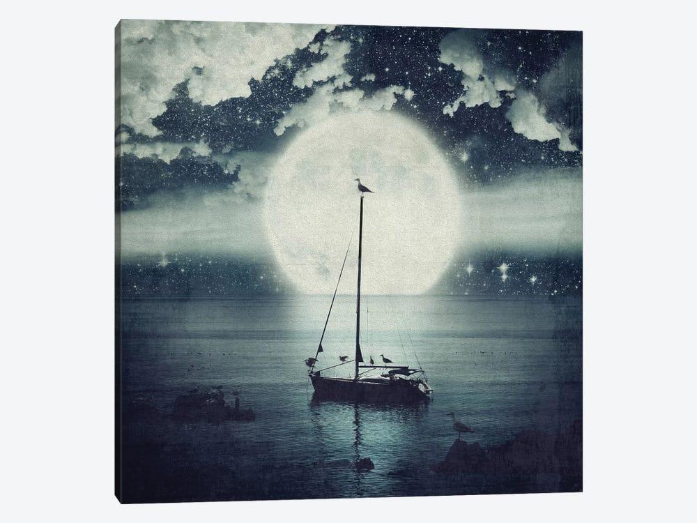 Starry Night Seascape by Paula Belle Flores 1-piece Canvas Artwork