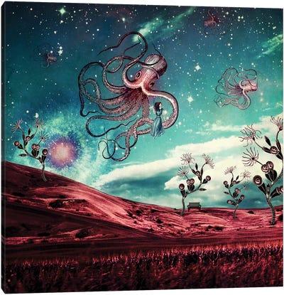 Sunrise Over The Purple Planet Canvas Art Print